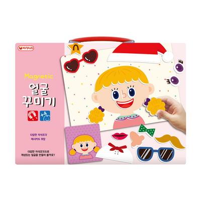 자석 얼굴꾸미기(P) (얼굴카드+자석) -감정카드