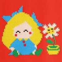 MCA 젬콕페인팅(보석십자수) 소녀와꽃