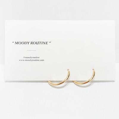 원터치 미디움 귀걸이 (2colors)