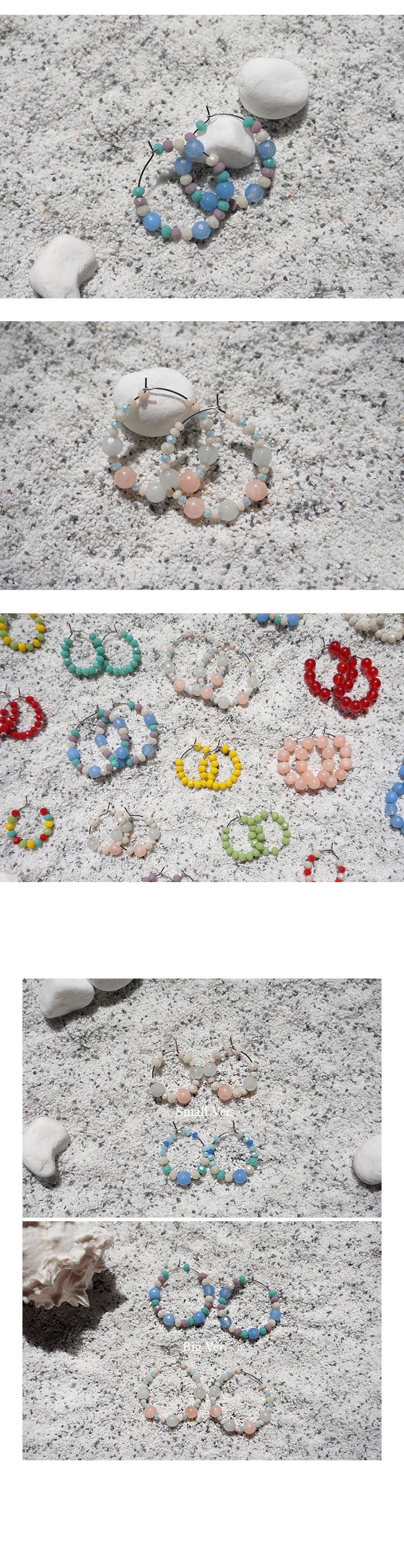파스텔쉐이드 버블 링귀걸이 - 빅 (2colors) - 무디루틴, 14,000원, 진주/원석, 드롭귀걸이