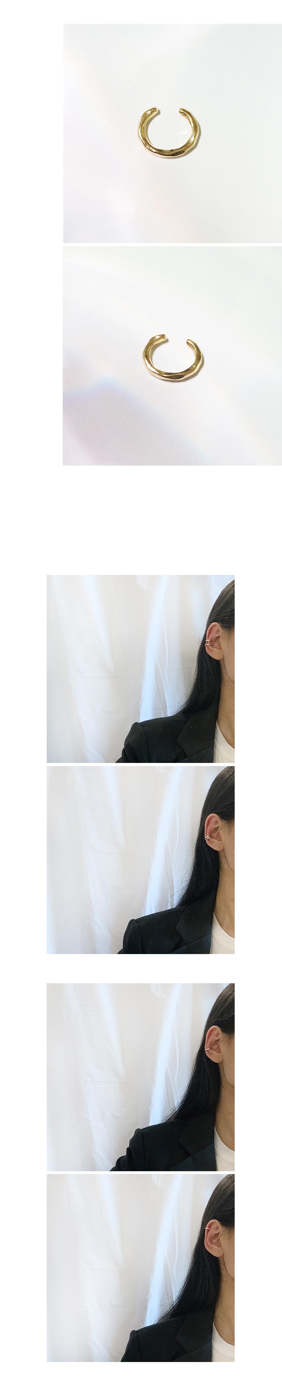 범피 이어커프 (2colors) - 무디루틴, 6,500원, 실버, 이어커프/피어싱