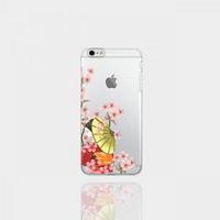 아이폰8 투명케이스 GPJ-벚꽃기모노