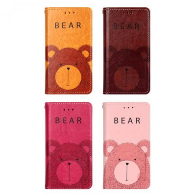 LG V50 (LG V500) Sucker-Bear 지갑 다이어리 케이스