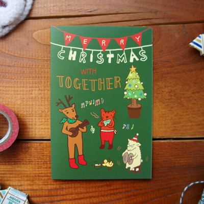 크리스마스 작은 음악회 카드