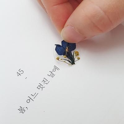 압화미니스티커_유채꽃