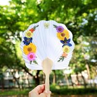압화부채 만들기 - 봄바람(조가비 연엽선)