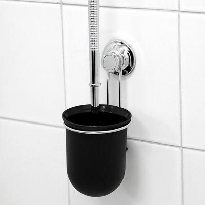 스파이더락 흡착식 스텐 변기솔걸이(블랙)