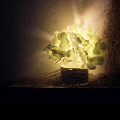 화이트 수국 LED