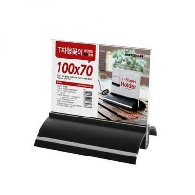 아트사인 T자형꽂이 (타원)검정 100x70(mm)  TK1007