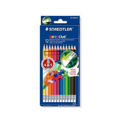 스테들러 노리스클럽 14412색 지우개 색연필 세트