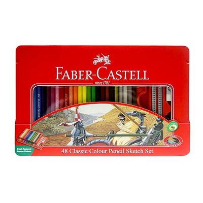 파버카스텔 일반 색연필 48색 틴케이스