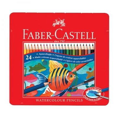 파버카스텔 수채 색연필 24색 틴케이스