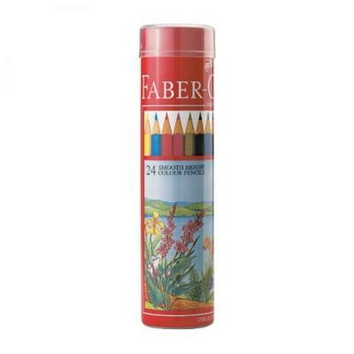 파버카스텔 일반 색연필 24색 원형케이스