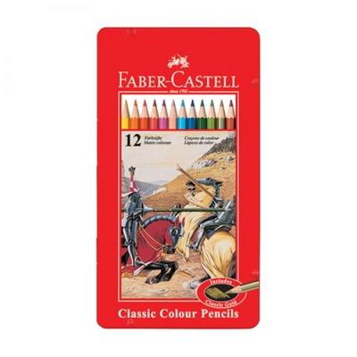 파버카스텔 일반 색연필 12색 틴케이스