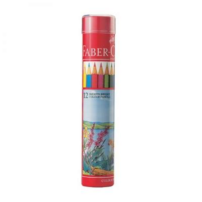 파버카스텔 일반 색연필 12색 원형케이스