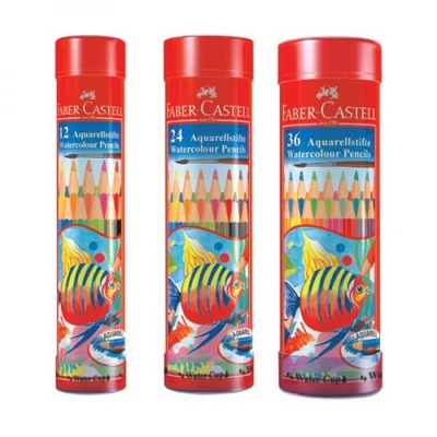파버카스텔 수채 색연필 36색 원형케이스