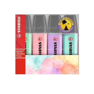 스타빌로 보스 파스텔 하이라이터 4색세트 형광펜