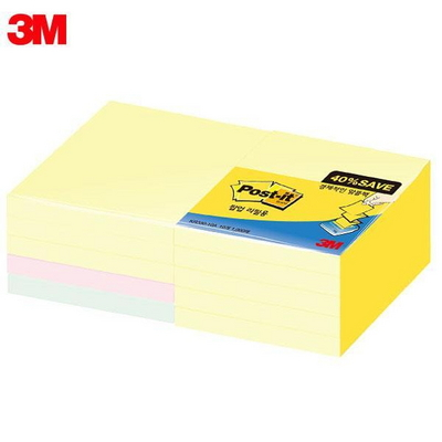 3M 노트 알뜰팩 KR330-10A 포스트잇
