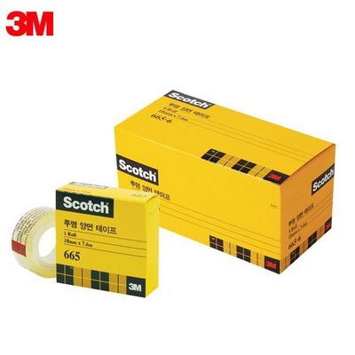 3M 스카치 오피스팩 665R 6 18X7.6M 투명양면테이프 리필