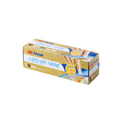 3M 후레쉬 스탠딩 슬라이드 지퍼백 봉투 소형