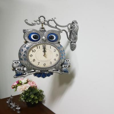 드롭부엉이 양면시계 실버 선물