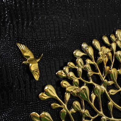 돈나무말 블랙골드-대 부조판화 벽걸이 인테리어 거실 그림액자