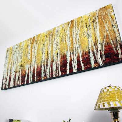 금장펄 자작나무 특대 캔버스 유화 벽걸이 인테리어 그림액자