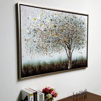 돌출금장고목나무 캔버스 유화 벽걸이 인테리어 거실 그림액자