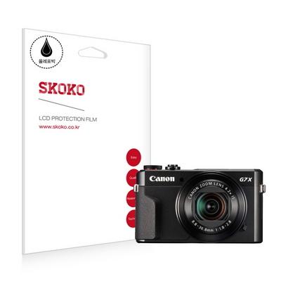 캐논 파워샷 G7 X mark2 (II) 올레포빅 카메라 액정보호필름(2매입) CANON