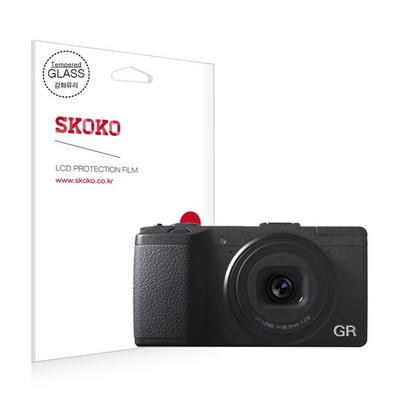 펜탁스 리코 GR2 강화유리 카메라 액정보호필름 (1매)