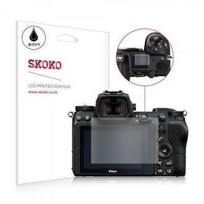 니콘 Z7 카메라 액정보호필름 2매 상단 1매