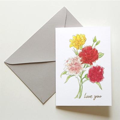 감사카드- carnation