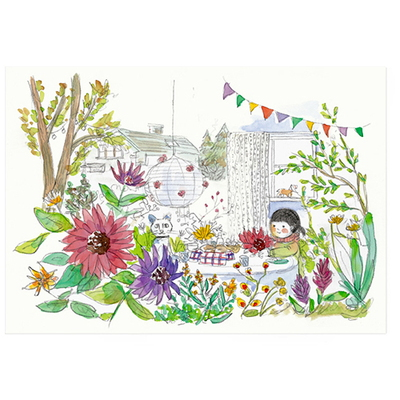 인테리어 포스터- 일러스트 포스터 garden party