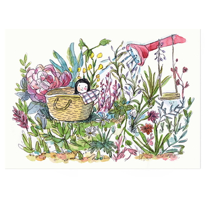 인테리어 포스터- 일러스트 포스터 little garden