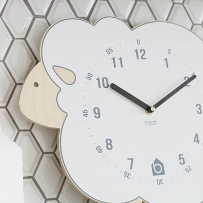 BEZIT - WHITE LAMB Wall Clock(무소음 벽시계)