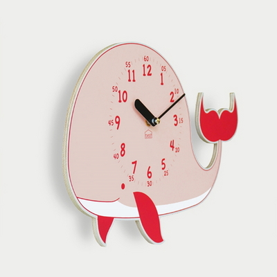 꿈의 고래 무소음 벽시계(핑크)