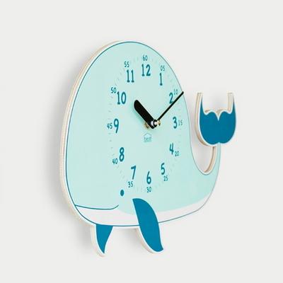꿈의 고래 무소음 벽시계(블루)