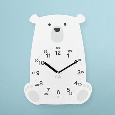러블리 북극곰 무소음 벽시계