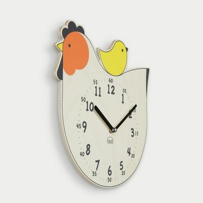 행운의 닭 무소음 벽시계