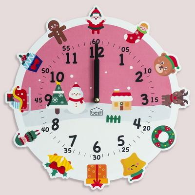 원더타임시리즈-러블리 크리스마스 무소음 벽시계