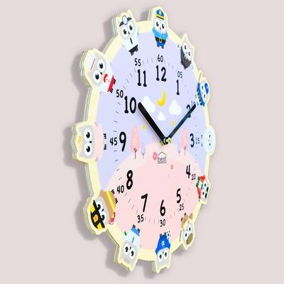 원더타임시리즈-부자되는 부엉이의 꿈 무소음 벽시계