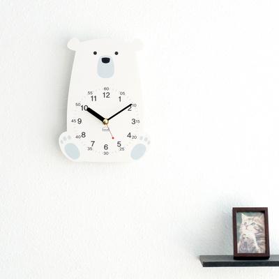 아이방 교육용 무소음 아날로그 탁상시계-북극곰 외