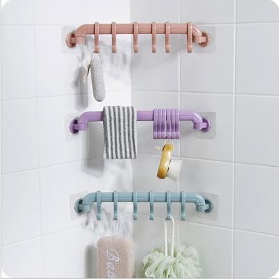 주방 욕실 접착식 소품 도구 걸이대 색상 랜덤