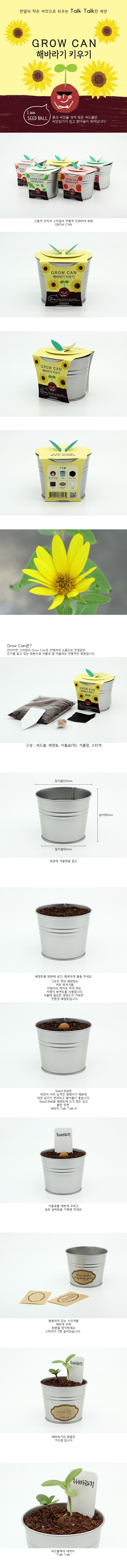 new그로우캔_미니해바라기 - 틔움세상, 6,000원, 새싹/모종키우기, 새싹 키우기