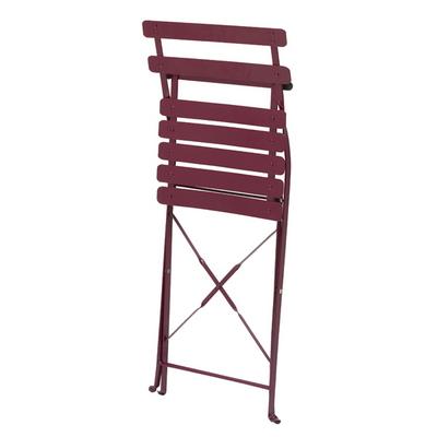 접이식 카페 의자 버건디