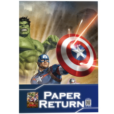 (찢어진 포스터가 복구되는 마술)마블캐릭터 리턴페이퍼
