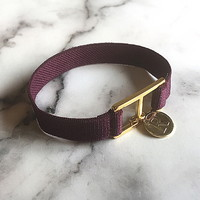 10 color initial banding bracelet - wine