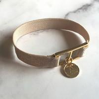 10 color initial banding bracelet - skin