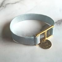10 color initial banding bracelet - sky