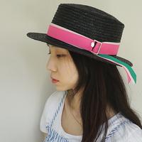 basic 3color ribbon panama hat (10 ribbon color)